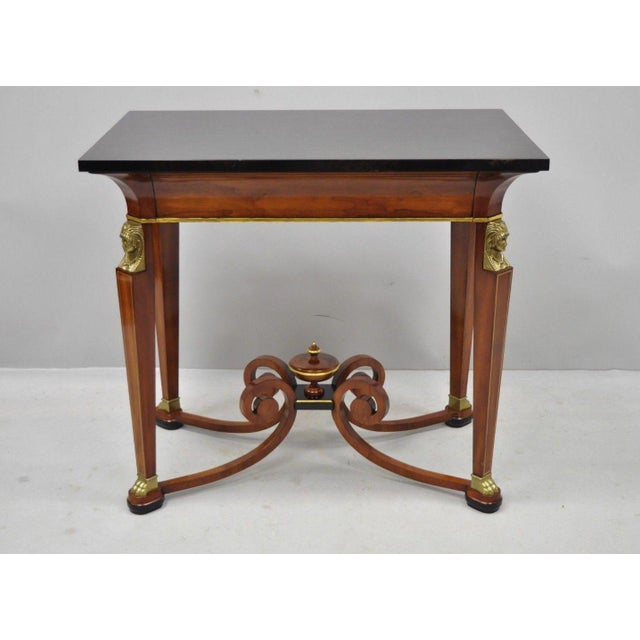 20th Century French Empire John Widdicomb Figural Bronze Mounted Occasional Lamp Table For Sale - Image 11 of 12