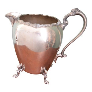 1940s Large Sheridan Silverplate Pitcher For Sale
