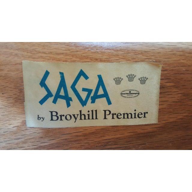 Mid Century Modern Broyhill Saga Walnut High Boy Dresser For Sale - Image 12 of 13