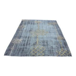 """Turkish Handmade Oushak Wool Carpet - 5'10"""" x 8'2"""""""