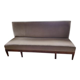McLain Wiesand of Baltimore Grey Settee Couch For Sale