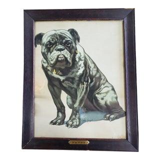 Mid Century Modern Pierre Gueriin Framed Dog Art For Sale