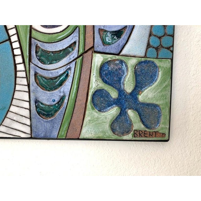 2010s Large Studio Ceramic Wall Relief by Brent Bennett For Sale - Image 5 of 9