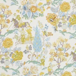 Schumacher Persian Lancers Wallpaper in Citron , Sample For Sale