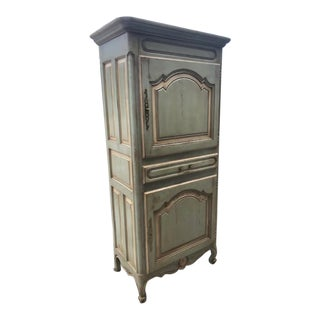 1950s French Country Kitchen Food Cupboard Cabinet For Sale