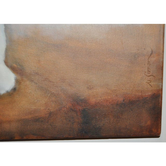"Ute Simon ""Polar Bear"" Oil on Canvas Painting, Circa 2003 - Image 5 of 9"