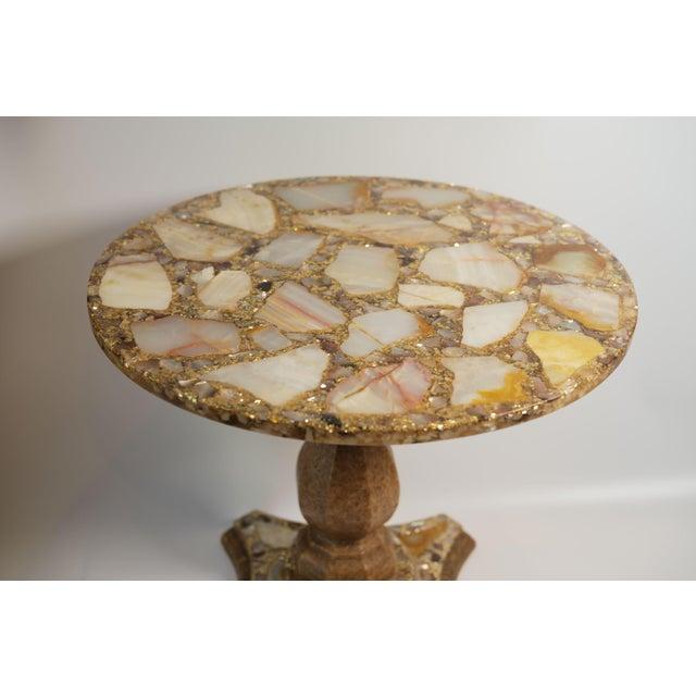 Arturo Pani Arturo Pani Onyx Abalone Shell Gold Glitter Side Table For Sale - Image 4 of 10