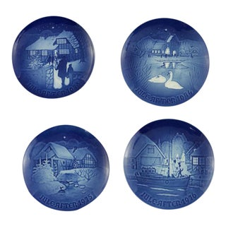 B&G Copenhagen Christmas Hanging Plates - Set of 4
