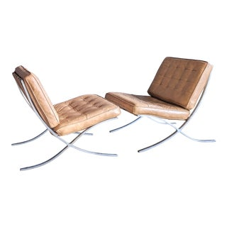 Mies Van Der Rohe Barcelona Chairs, a Pair For Sale
