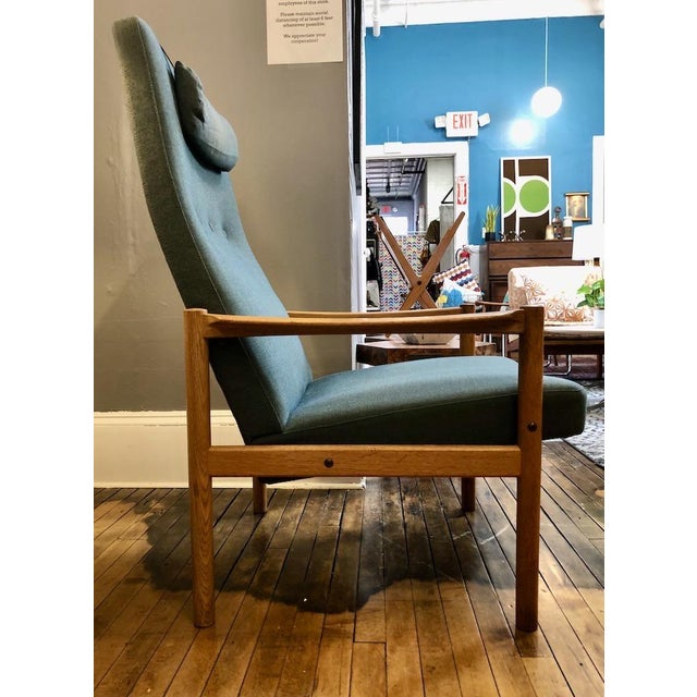Mid-Century Modern Vintage Swedish Modern High-Back Lounge Chair For Sale - Image 3 of 13