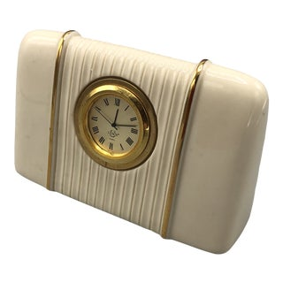 1960s Lenox Mid-Century Porcelain Clock For Sale
