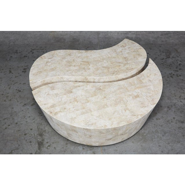 """1990s Contemporary Freeform Tessellated Stone Two Part """"Hampton"""" Coffee Table For Sale In Los Angeles - Image 6 of 13"""
