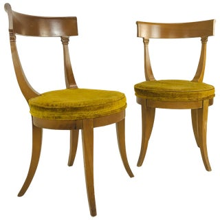 Pair of MCM Klismos Side Chairs For Sale