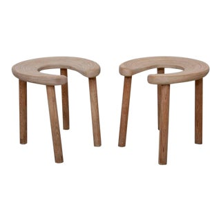 Pair of Antti Nurmesniemi Sauna Stools for G. Soderstrom For Sale