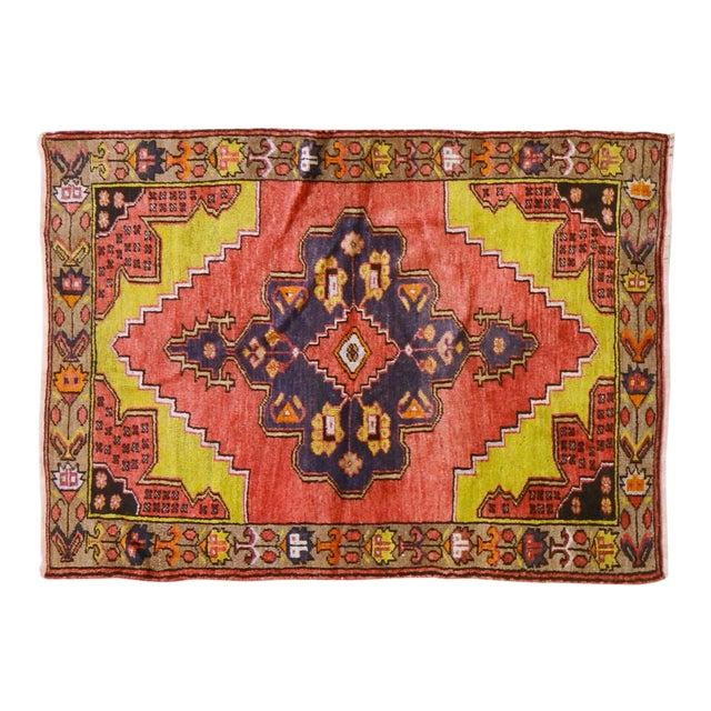 """Vintage Turkish Rug,3'1""""x4'2"""" For Sale"""