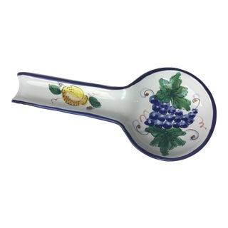 Italian Ceramic Spoon Rest