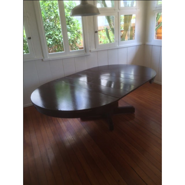 Large Pedestal Dining Table & Four Leaves - Image 6 of 8