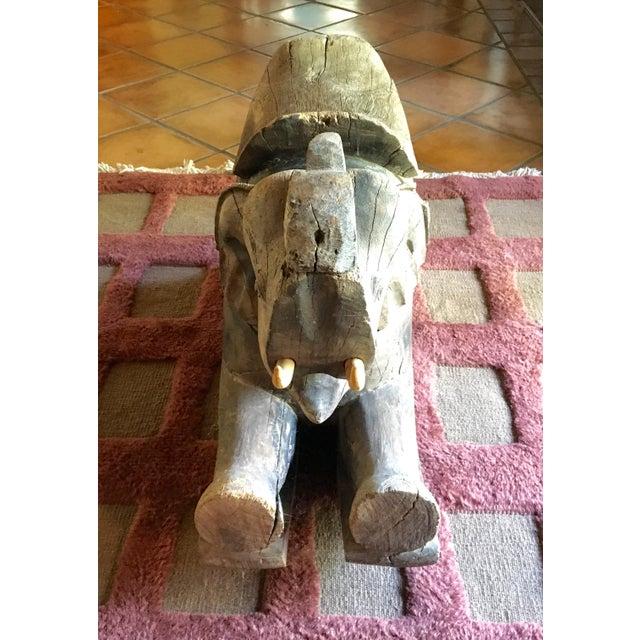Thai Wood Elephant - Image 2 of 3