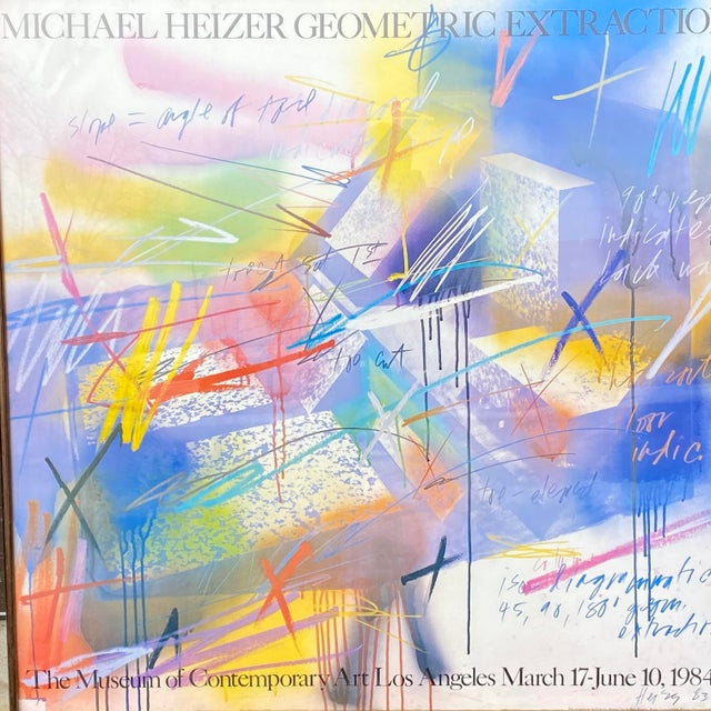 """Michael Heizer """"Geometric Extraction"""" 1984 Gallery Poster For Sale - Image 9 of 10"""