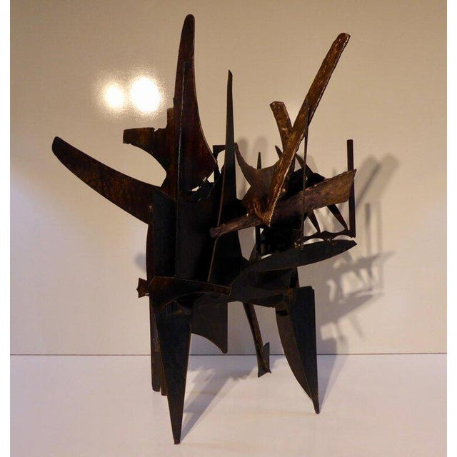 """Contemporary """"Four Corners"""" an Original Contemporary Steel and Bronze Sculpture by American Artist Joey Vaiasuso For Sale - Image 3 of 8"""