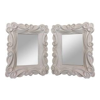 Carole Gratale Modernist Designer Mirrors - a Pair For Sale
