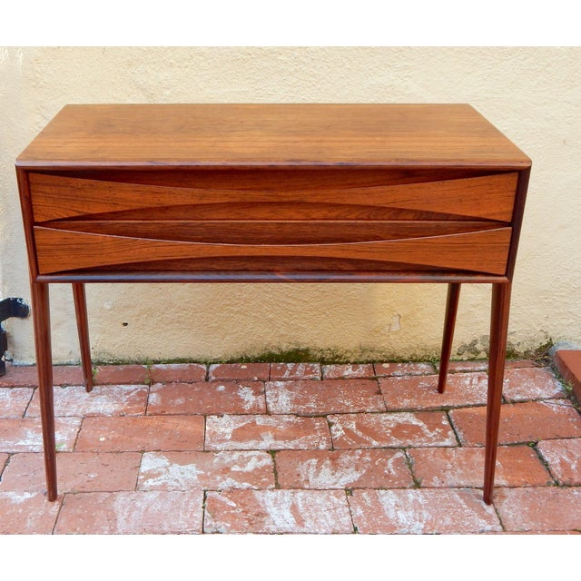 Swedish Mid-Century Modern Mini-Chest in Rosewood - Image 2 of 8
