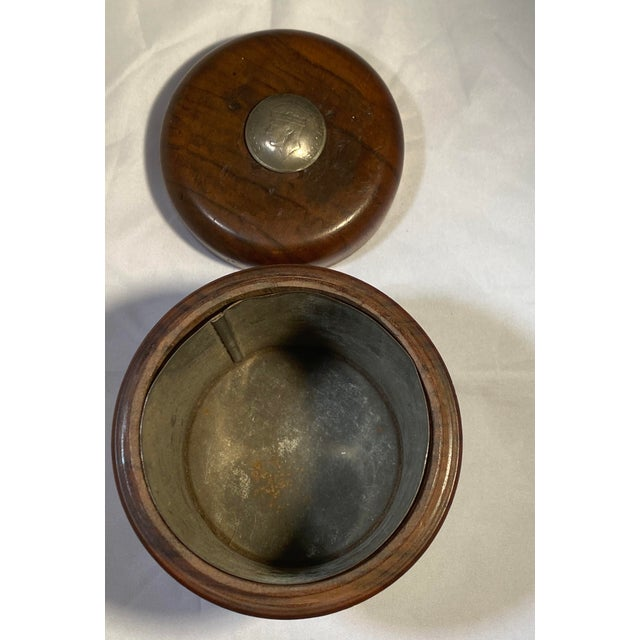 Brown Antique English Edwardian Period Pipe Tobacco Walnut Humidor For Sale - Image 8 of 10