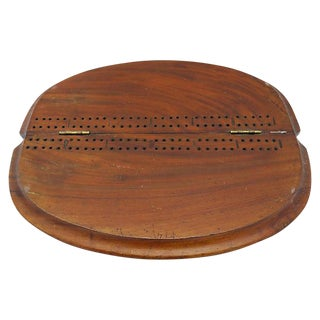 Antique English Folding Cribbage Board For Sale