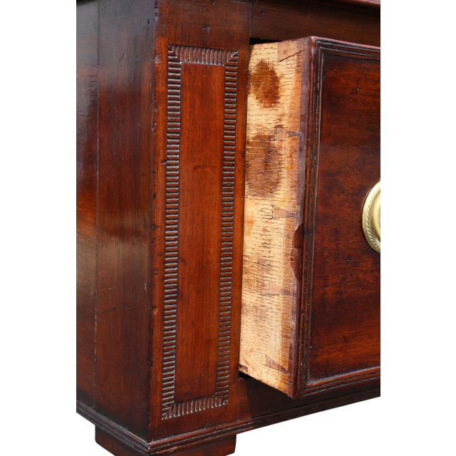Green Regency Mahogany Writing Table For Sale - Image 8 of 13