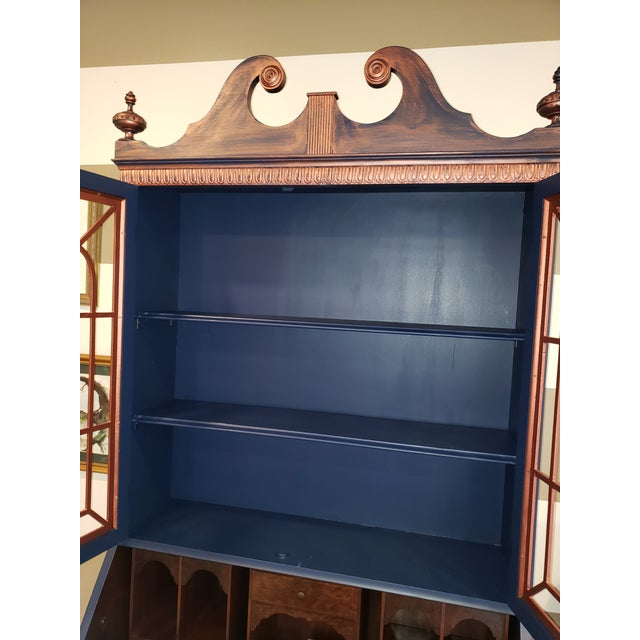 Early 20th Century 20th Century Chippendale and Sheraton Revival Slant Front Secretary Desk For Sale - Image 5 of 13