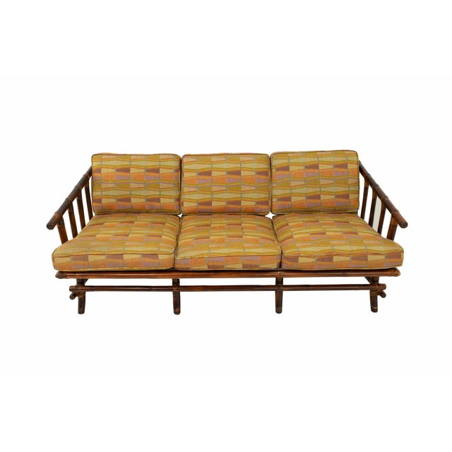 Mid-Century Modern John Wisner for Ficks Reed Style Bamboo Mid Century 3-Seater Sofa For Sale - Image 3 of 9