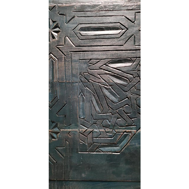 2000 - 2009 21st Century Vintage Moroccan Wooden Panel For Sale - Image 5 of 7