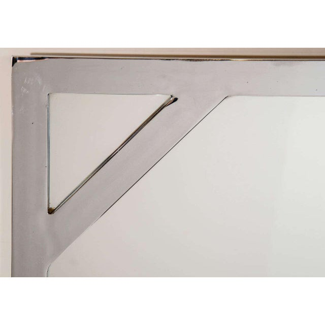 1970s Hollywood Regency Chromed Chippendale Mirror by Milo Baughman For Sale - Image 9 of 10