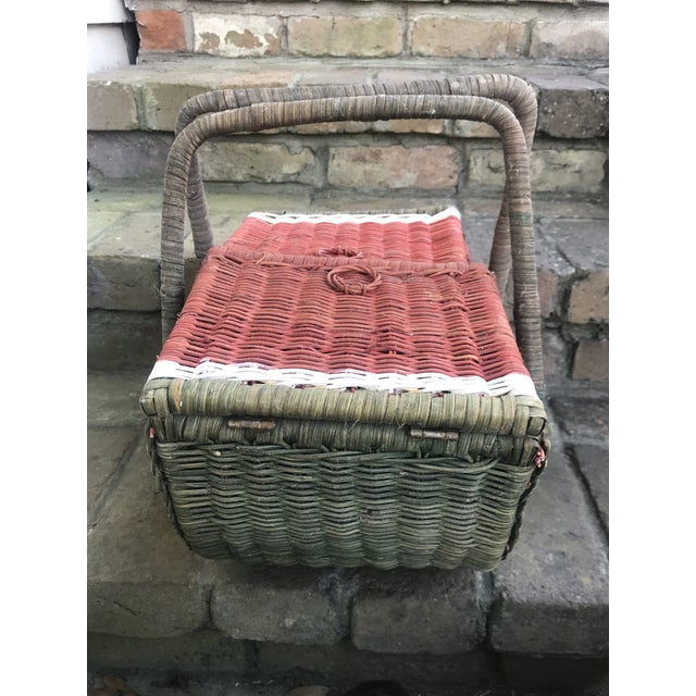 Wicker Country Watermelon Picnic Basket For Sale - Image 7 of 13