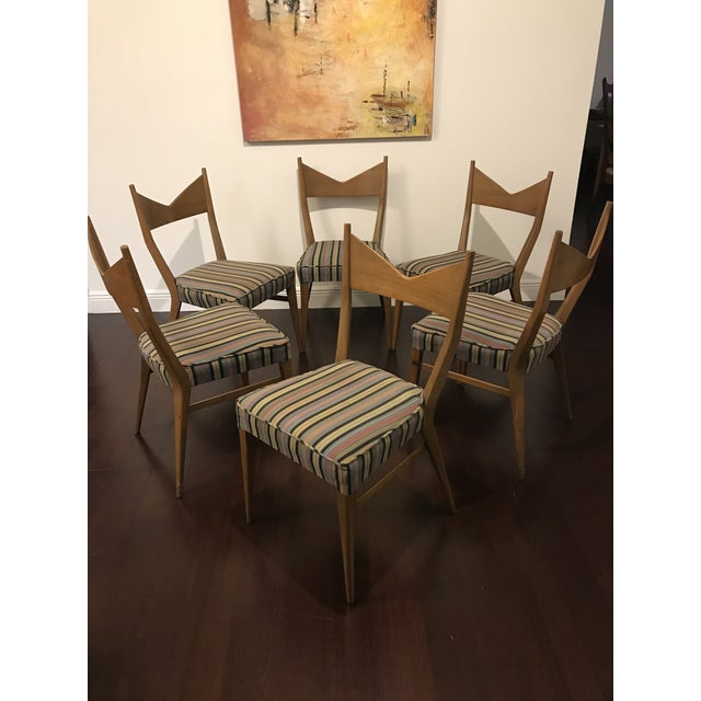 Calvin Furniture Paul McCobb Mid Century Modern Dining Chairs - Set of 6 For Sale - Image 4 of 6