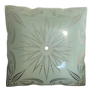 1950s Mid-Century Semi Flush Ceiling Light Fixture Jadeite For Sale