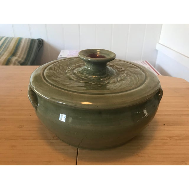 Studio Pottery Lidded Casserole Dish For Sale - Image 10 of 10