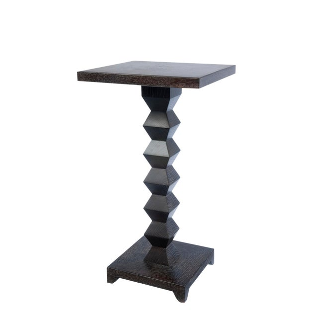 1980s Transitional Donghia Zig Zag Table For Sale