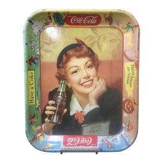 Vintage Coca Cola Advertising Tray C. 1950's For Sale