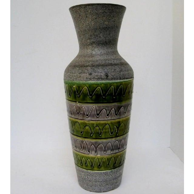 Green West German Ceramic Floor Vase For Sale - Image 8 of 8