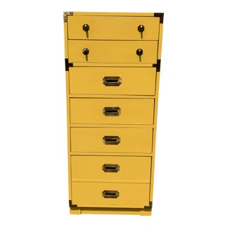 1960s Campaign Style Yellow Dresser For Sale