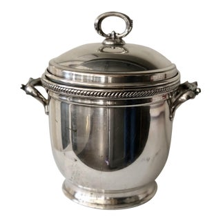 Silver English Style Ice Bucket For Sale