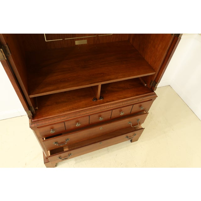 Wood Lane Williamsburg Cherry Bedroom Armoire Cabinet For Sale - Image 7 of 12