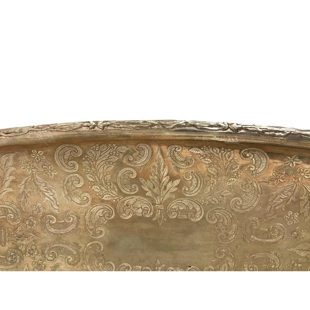 Silver Tray with Carrying Handle - Image 3 of 7