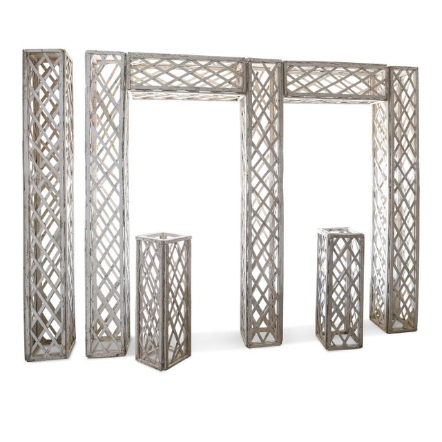 French Vintage French Painted Trellis For Sale - Image 3 of 13