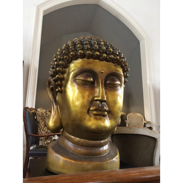 Early 20th Century Early 20th Century Buddha Head For Sale - Image 5 of 6