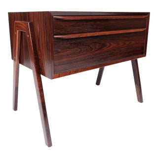 Vintage Danish Modern Rosewood End Table, Entry Table, Side Table