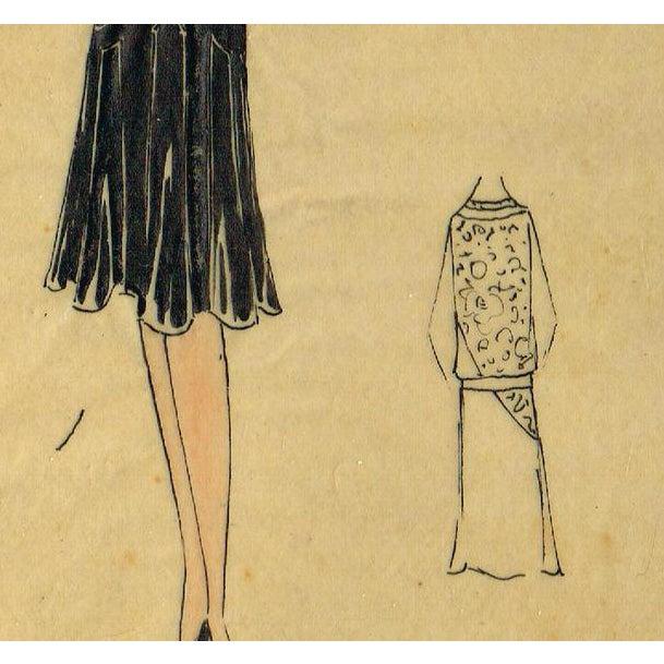 Original Parisian Fashion Watercolor - Image 2 of 2