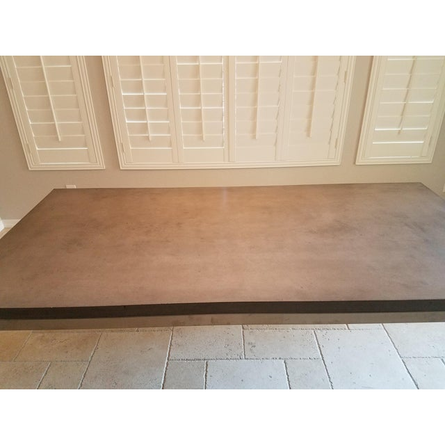 Modern Industrial Concrete Dining Table For Sale In Phoenix - Image 6 of 8