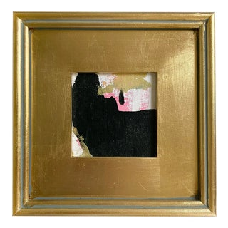 """Jessalin Beutler 2021 """"Relaxed Seeing"""" Framed Mini Painting For Sale"""